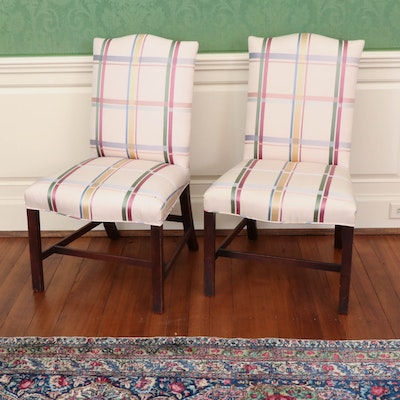English Chippendale Style Upholstered Side Chairs, 19th C.