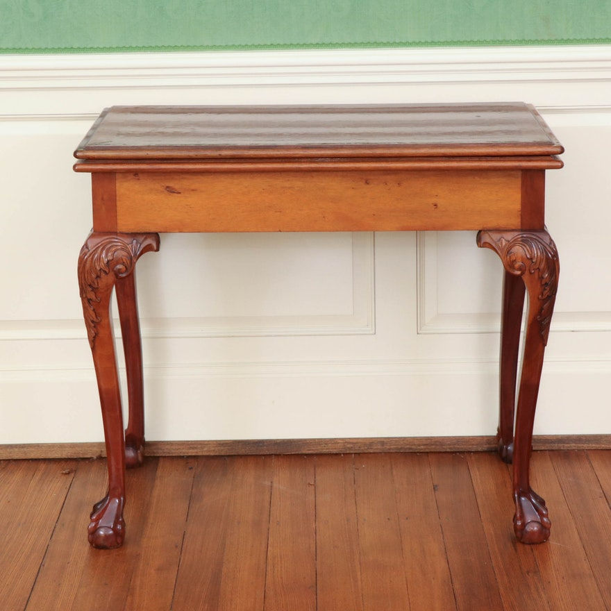 George III Style Mahogany Games Table