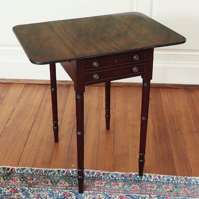 Regency Mahogany Pembroke Table, 19th Century