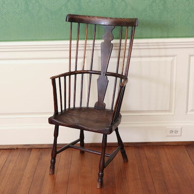 English Ash and Elm Windsor Chair, 19th Century