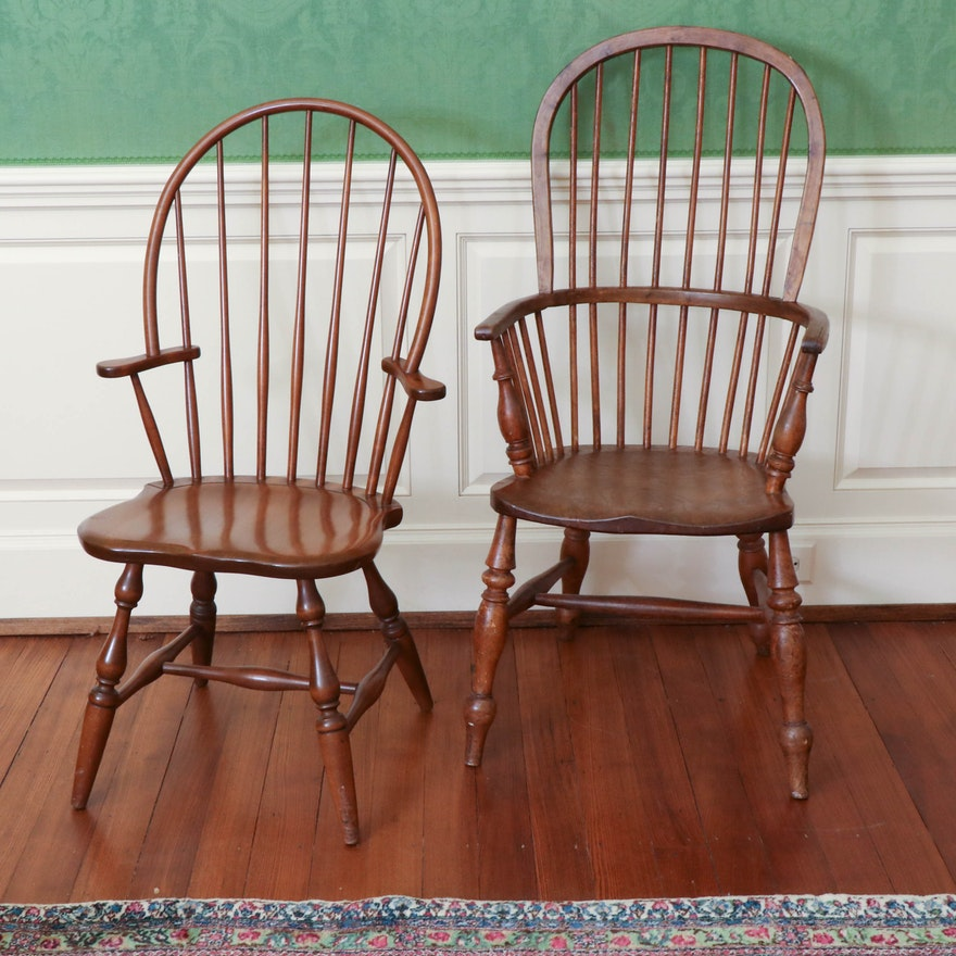 Colonial Revival Windsor Chairs Featuring Conant Ball Furniture Makers