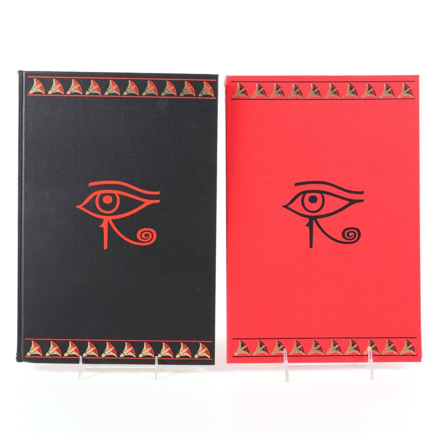 """Limited Editions Club """"The Book of the Dead"""" Two-Volume Set, 1972"""