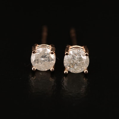 14K 0.58 CTW Diamond Stud Earrings