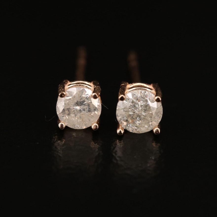 14K 0.58 CTW Diamond Stud Earrings