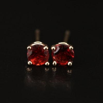 14K Garnet Stud Earrings