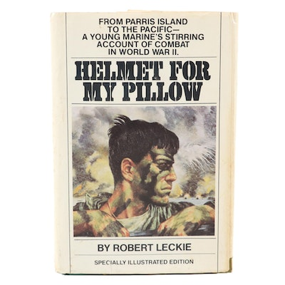 "Signed Bantam Illustrated Edition ""Helmet for my Pillow"" by Robert Leckie, 1979"