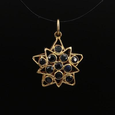 18K Corundum Wirework Star Pendant