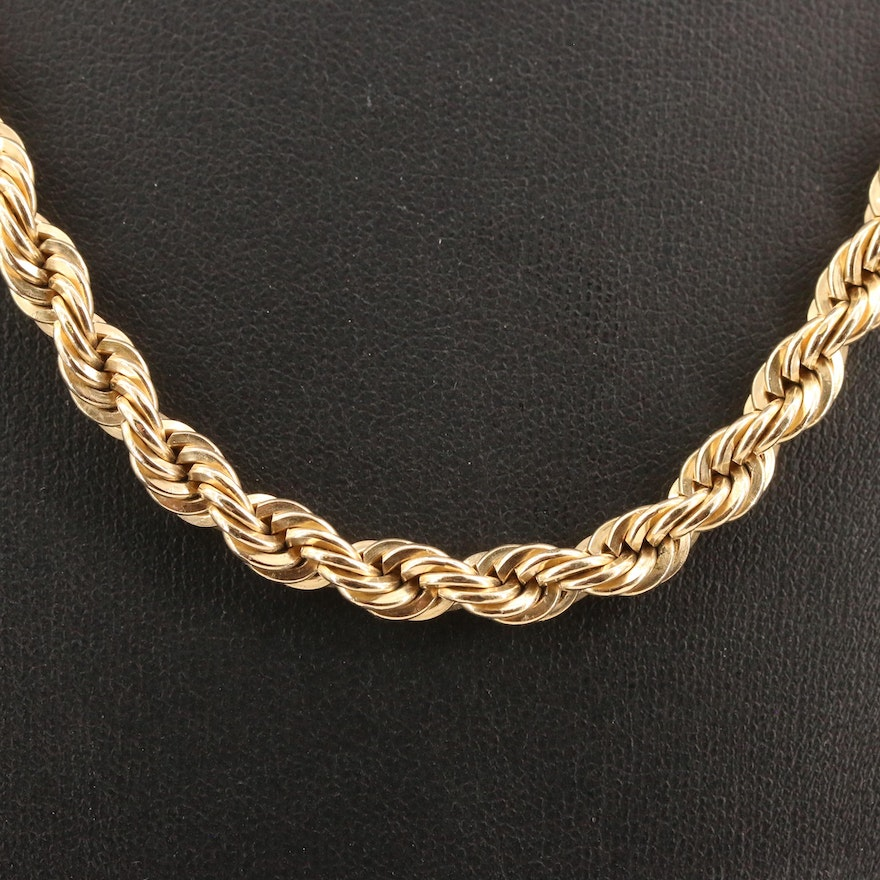 Gold Filled Rope Chain
