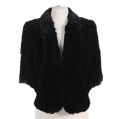Black Sheared Rabbit Fur Stole from Richer's Exclusive Furs