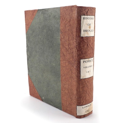 """First English Edition """"A Compleat History of Druggs"""" by Pierre Pomet, 1712"""