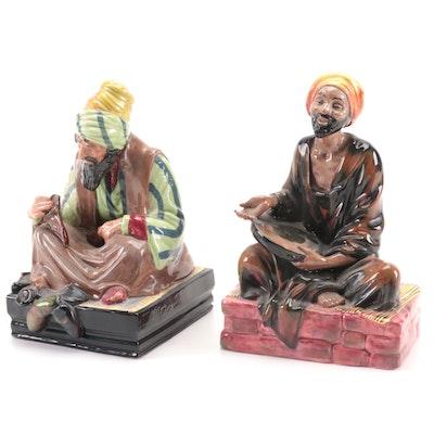 "Royal Doulton ""Mendicant"" and ""Cobbler"" Bone China Figurines"