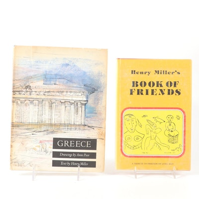 "First Edition ""Greece"" and ""Book of Friends"" by Henry Miller"