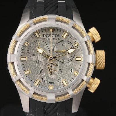 Invicta Bolt Chronograph Meteorite Dial Stainless Steel Quartz Wristwatch