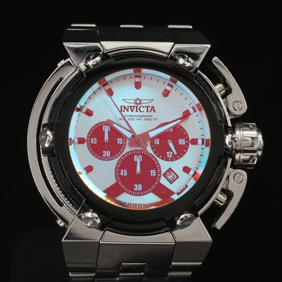 "Invicta ""Coalition Forces X-Wing"" Stainless Steel Chronograph Quartz Wristwatch"