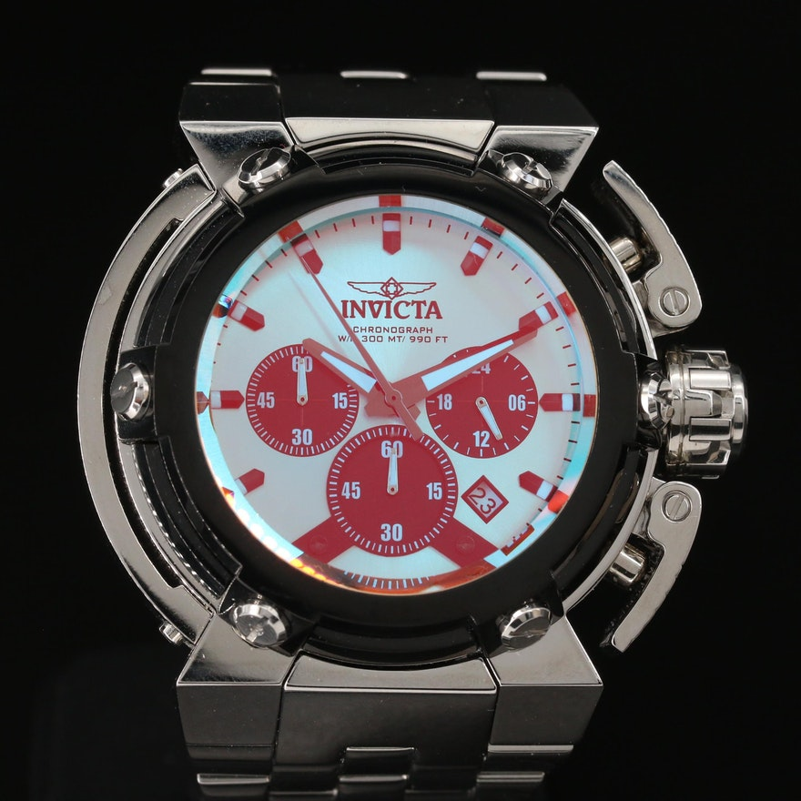 """Invicta """"Coalition Forces X-Wing"""" Stainless Steel Chronograph Quartz Wristwatch"""