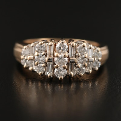 14K 1.00 CTW Diamond Ring