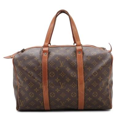 Louis Vuitton Sac Souple 35 in Monogram Canvas and Vachetta Leather