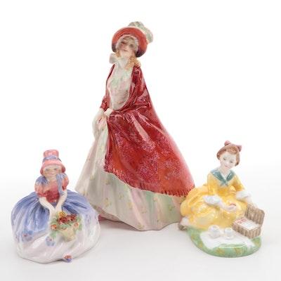 "Royal Doulton Bone China ""Paisley Shawl"" Figurine and Others"