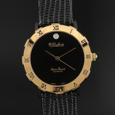 Dufonte by Lucien Piccard Diamond Dial Quartz Wristwatch