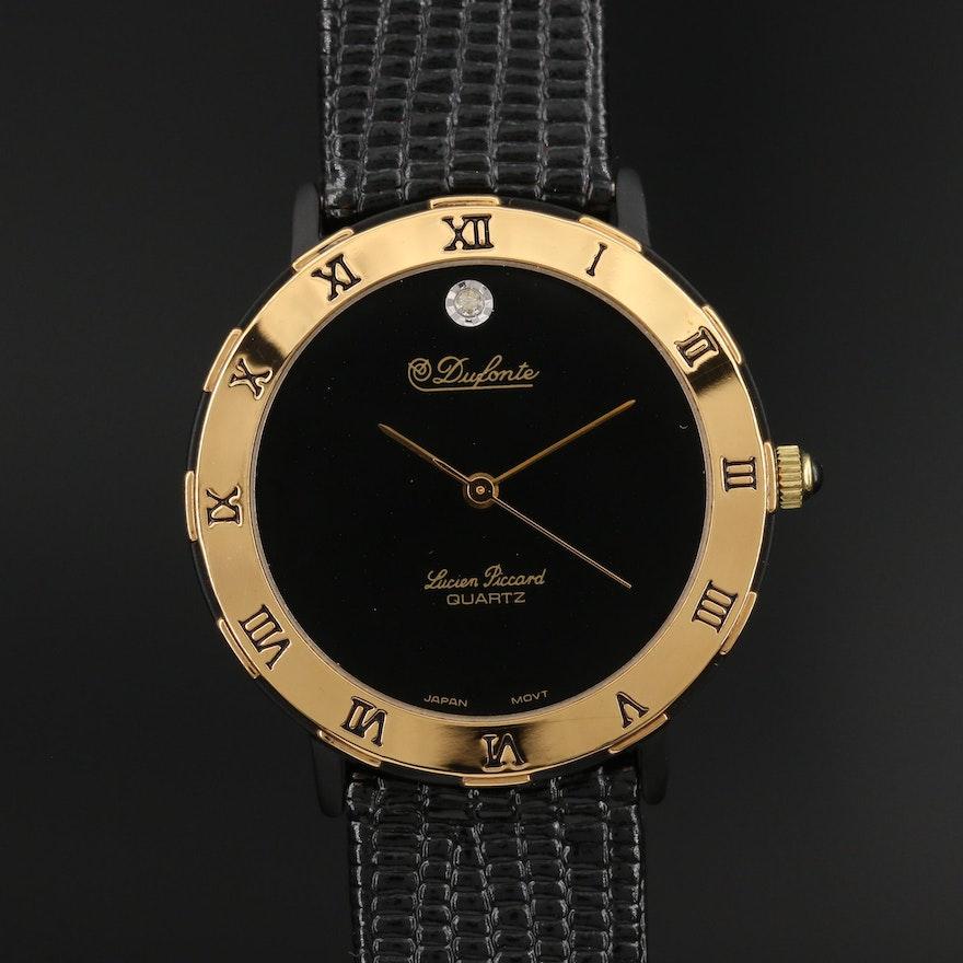 Dufonte by Lucien Piccard Diamond Dial Quartz Wristwatch