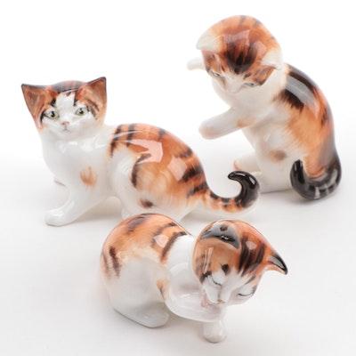 Royal Doulton Orange and White Kitten Bone China Figurines
