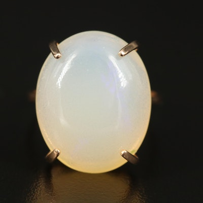 14K Opal Solitaire Ring