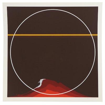 "Thomas Whelan Benton Serigraph ""Red Mountain,"" 1981"