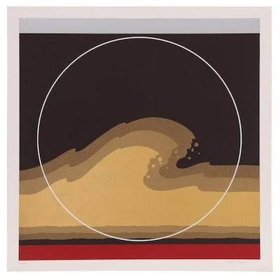 """Thomas Whelan Benton Serigraph """"Golden Waves,"""" 1979"""