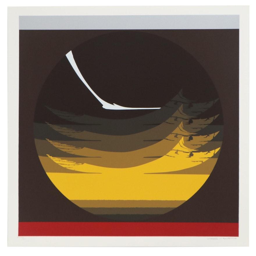 """Thomas Whelan Benton Serigraph """"Gate Series - Yellow,"""" 1981"""