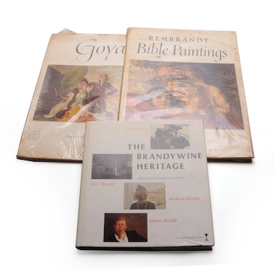 """The Brandywine Heritage"" and Books of Prints by Rembrandt and Goya"
