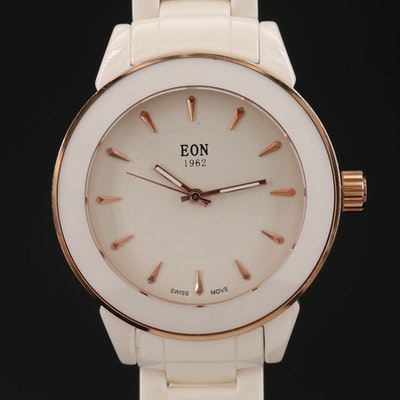 1962 Eon Ceramic and Stainless Steel Quartz Wristwatch