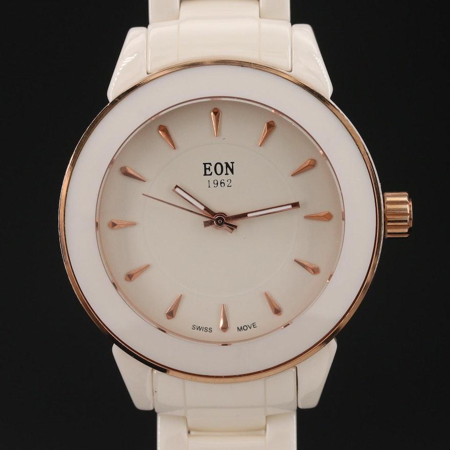 1962 Eon Ceramic and Stainless Steel Quartz Wristwatch