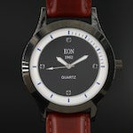 1962 Eon Sapphire and Stainless Steel Quartz Wristwatch
