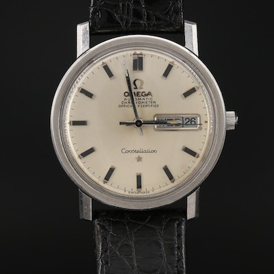 Vintage Omega Constellation Stainless Steel Automatic Wristwatch