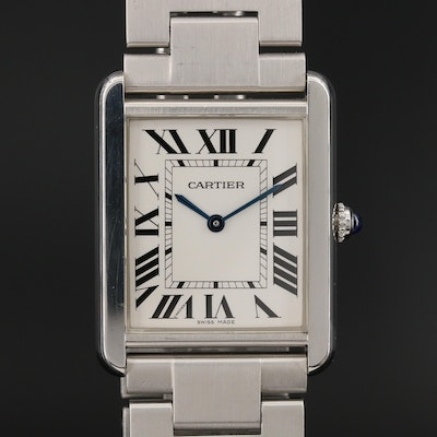 Cartier Tank Solo Stainless Steel Quartz Wristwatch