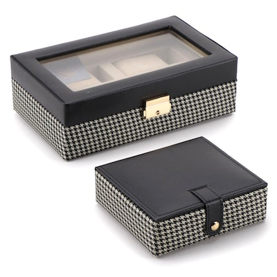 "Collectives ""The Eaton"" Four Watch Safe with Key, and Cufflinks Holder"