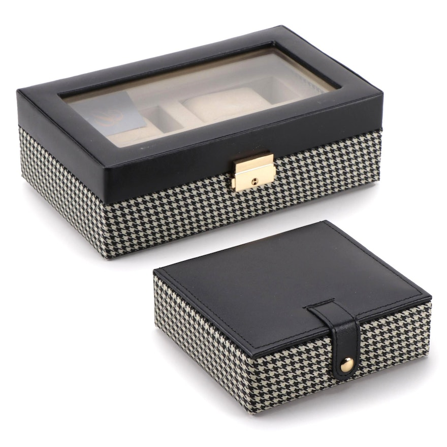 """Collectives """"The Eaton"""" Four Watch Safe with Key, and Cufflinks Holder"""