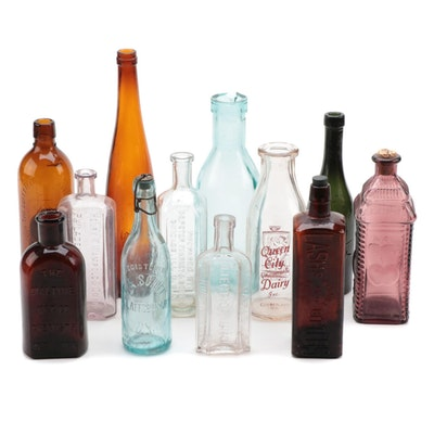 Collection of Glass Bottles, Early to Mid-20th Century