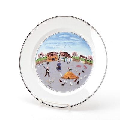 "Villeroy & Boch Porcelain ""Design Naif"" Pattern Plate"