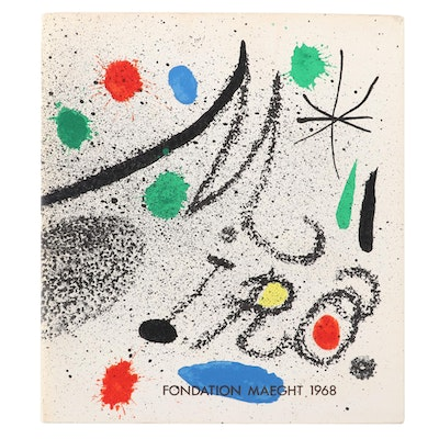 "Joan Miró Catalogue ""Miró"" by Fondation Maeght, 1968"