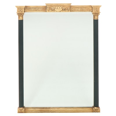 Neoclassical Style Giltwood and Parcel-Painted Mirror