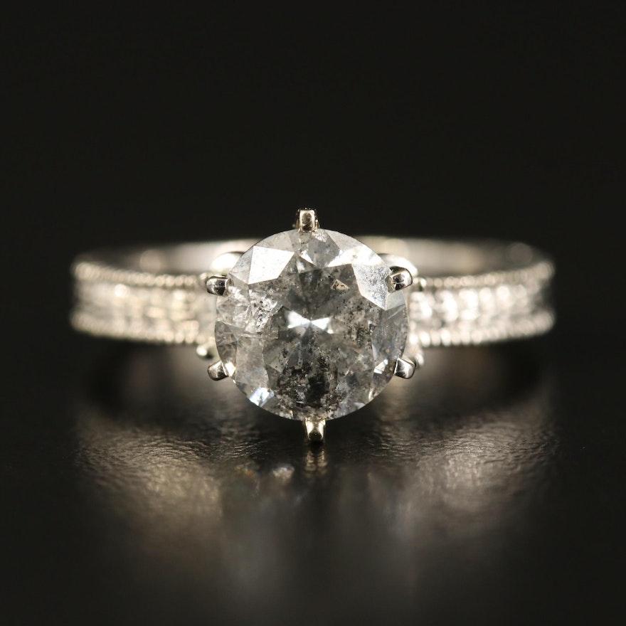 14K Three Stone 2.26 CTW Diamond Ring