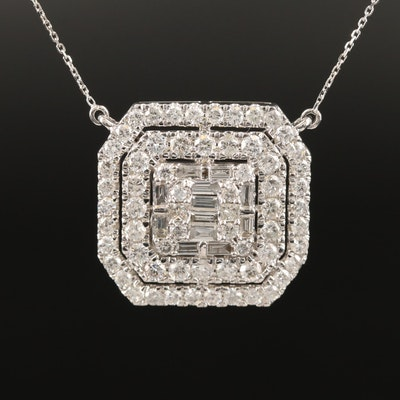 14K and 18K 3.01 CTW Diamond Necklace