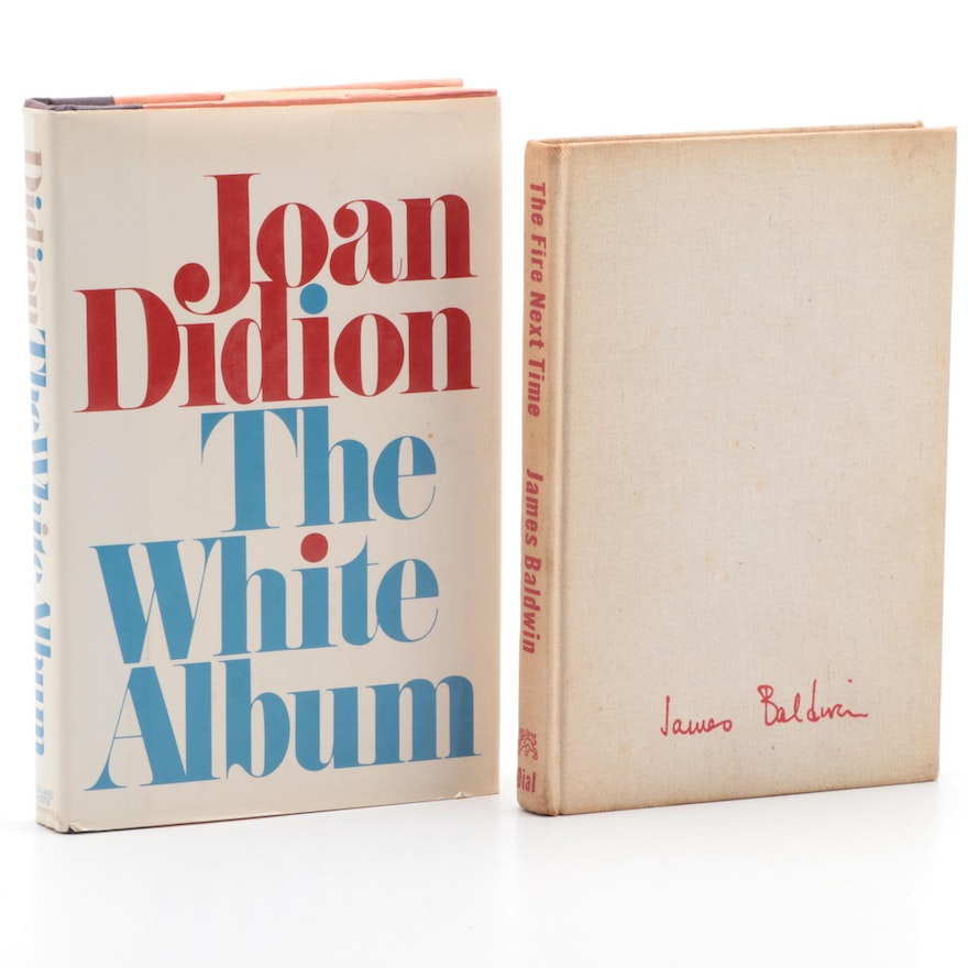 """First Edition """"The White Album"""" by Didion and """"The Fire Next Time"""" by Baldwin"""