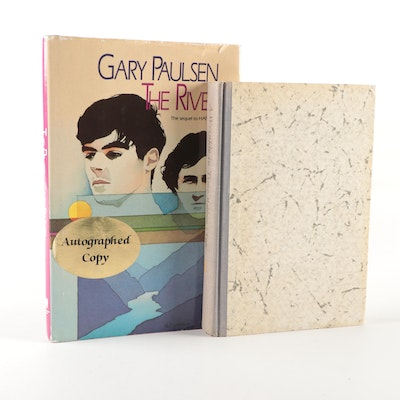 "Signed Early Printing ""The River"" by Gary Paulsen with ""A Wrinkle in Time"""