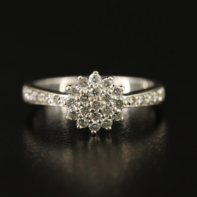 9K Diamond Cluster Ring