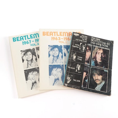 """Beatlemania"" Volumes 1 and 2 with ""The New Beatles Top 40 Pop Song Book"""