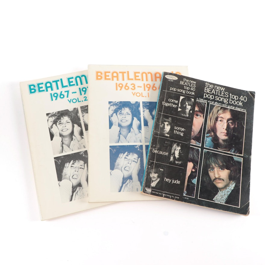 """""""Beatlemania"""" Volumes 1 and 2 with """"The New Beatles Top 40 Pop Song Book"""""""