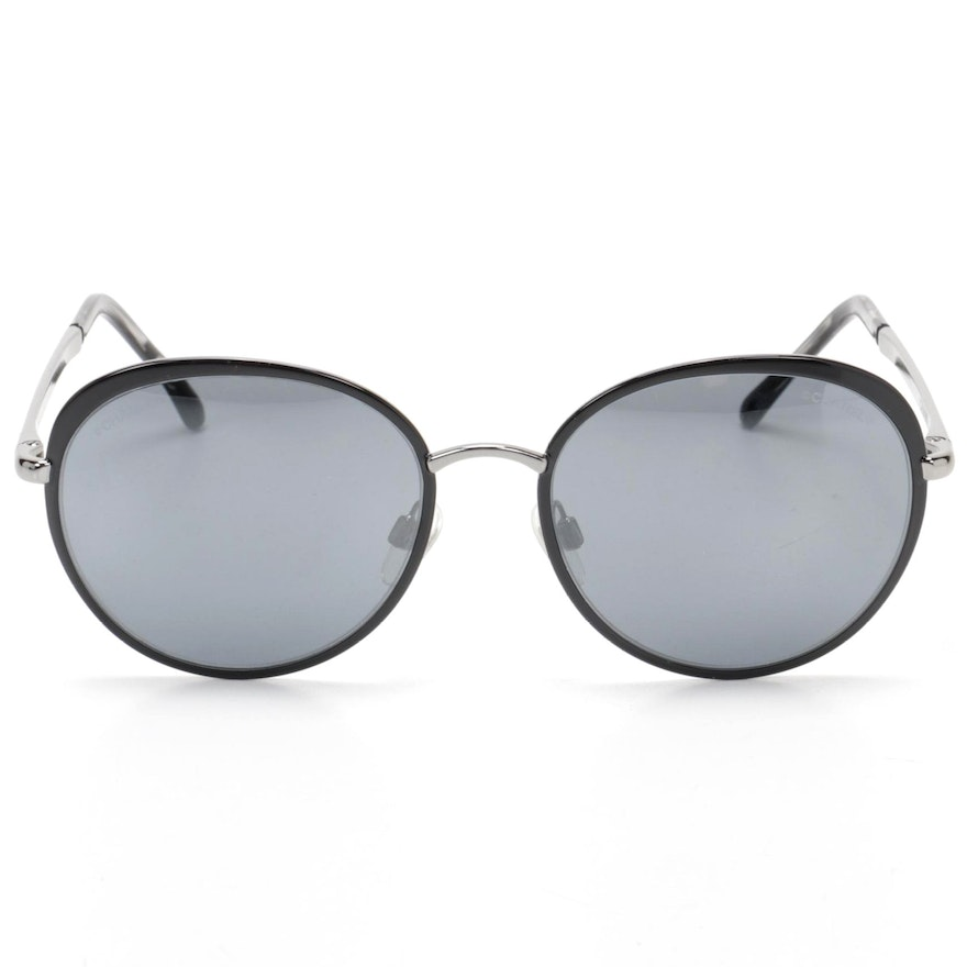 Chanel 4206 Black Sunglasses with Gray Gradient Lenses with Case