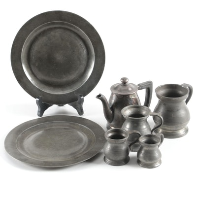 English Pewter Measurers and Other Pewter Tableware